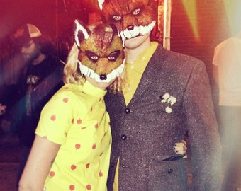 Mr. and Mrs. Fox, mardi gras masks, Fantastic Mr. Fox, Fantastic Mrs. Fox, Felicity Fox, fox mask, fox masks, fox costume, couple costume
