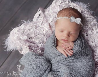 Gray Stretch Knit Wrap Newborn Photography Prop