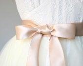 Rose Gold Wedding Sash - Double Faced Satin Ribbon Belt - 1.5 Inch Wide Bridal Belt, Bridesmaid, Flower Girl Sash