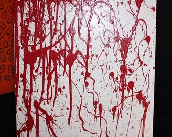 Blood spatter painting/jewelry holder