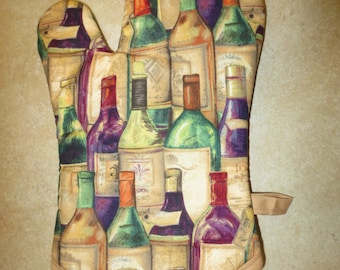 Wine Bottles Oven Mitt