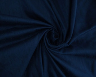 "Midnight Blue bridal 100% dupioni silk fabric yardage By the Yard 45"" wide bridesmaids dresses tuxedos"