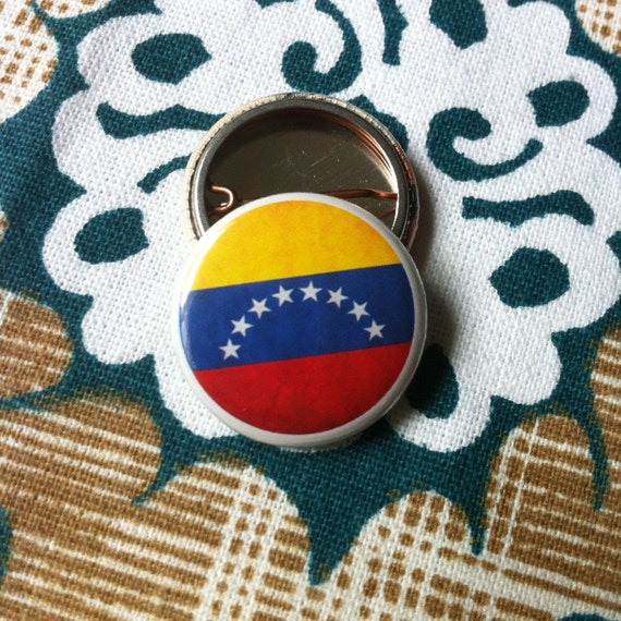 venezuela flag pinback button magnet zipper pull mirror. Black Bedroom Furniture Sets. Home Design Ideas