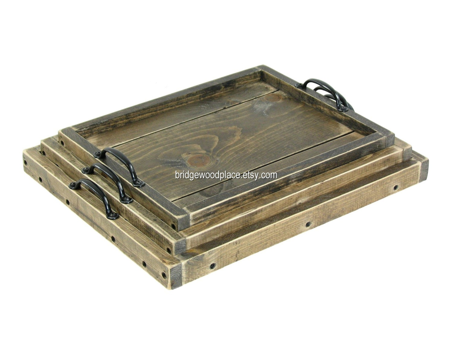 Serving Trays Nesting Ottoman Trays Wooden By Bridgewoodplace