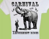 Children Baby Toddler Boy Girl T-Shirt One Piece Vintage Carnival Circus Birthday Shirt, Carnival Circus Family TShirts, Vintage Circus