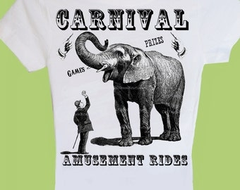 Children Baby Toddler Boy Girl T-Shirt One Piece Vintage Carnival Circus Birthday Shirt, Carnival Circus Family TShirts, Vintage Circus
