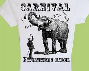 Carnival Adult Sizes Men Women Children Baby Toddler Boy Girl T-Shirt One Piece Vintage Carnival Circus Birthday Shirt