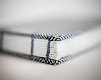 herringbone coptic notebook