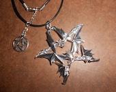 Bat Pentacle Gothic Necklace Ancient Ways Magical Witch's Amulet