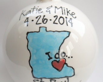 Personalized Wedding ornament gift
