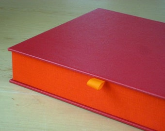 Clamshell Box - Red and Orange