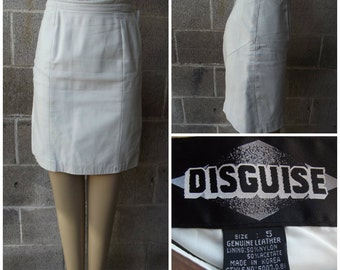 Weekend Sale 34% off 1980s Leather Skirt by Disguise, Size Extra small/Small - #43093
