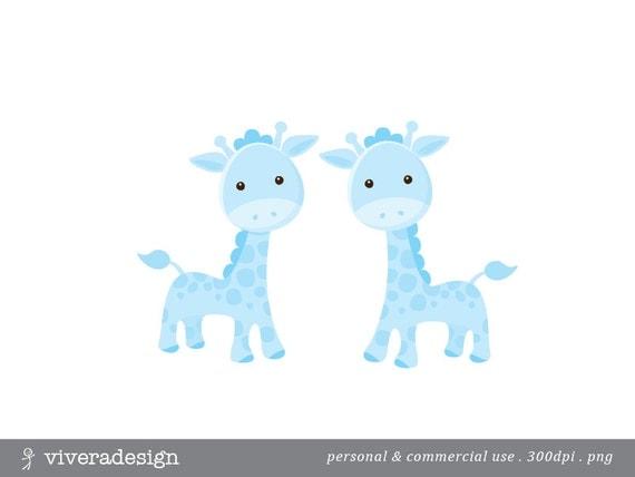 Blue Giraffe Digital Clip Art From Viveradesign On Etsy Studio