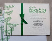 Lisa & Fabian - Cow Parsley wedding Invitation (min. 50 qty)