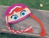FROZEN ANNA Crochet Beanie