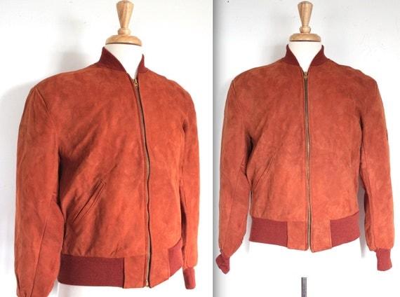 Vintage 1950's Bomber Jacket // NOS Men's 50s Paprika