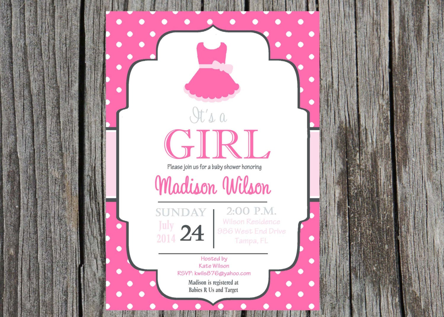 printed ballet baby shower invitation baby girl girl shower
