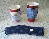 Coffee Tea Cup Cozy Sleeve - Reuseable - Insulated - Harry Potter Monopoly Scrabble Canada Clocks Bingo