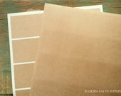 """100 Kraft Stickers, 2"""" x 2"""" square stickers, (51 mm), recycled stickers, kraft brown stickers, 2x2 square stickers, eco-friendly (5 sheets)"""