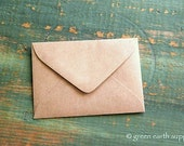 "25 mini Kraft brown Envelopes: 3 5/8"" x 2 5/8"" Kraft grocery bag, eco-friendly envelopes, mini envelopes, ACEO envelopes, ATC envelopes"