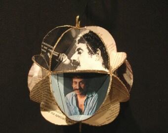 Jim Croce Album Cover Ornament Made Of Repurposed Record Jackets