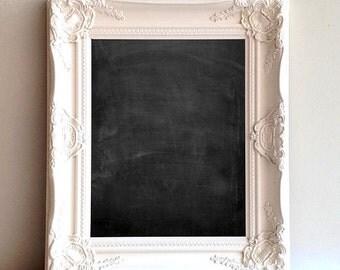 "DECORATIVE CHALKBOARD Framed Magnetic Chalkboard Wedding Sign Unique Christmas Gift Housewarming Gift 17""x20"" Kitchen Message Center Ivory"