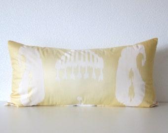 Brunschwig Fils Surabaya 12x24 ombre yellow white designer pillow cover