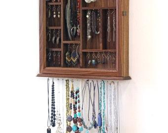 Hanging Jewelry Wall Cabinet Organizer