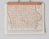 1930s Antique State Maps of Iowa and Kansas