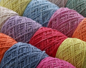 Hand Dyed Organic Cotton Yarn - 5oz (Worsted/Sport)