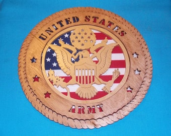 United States Army Scroll Saw Plaque