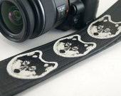 Wolf Camera Strap, Hand Made in 3 Color Options- Howl at The Moon