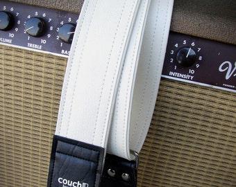 None More White Guitar Strap - Vegan Friendly - Heavy Duty - Built To Rock