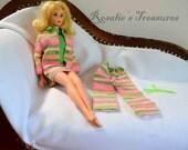 Vintage Barbie Clothes:  #1511 Fashion Bouquet Striped Suit   1970