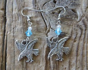 House Arryn Game of Thrones Inspired Falcon Earrings