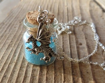 Dragon Dust Apothecary Jar Necklace