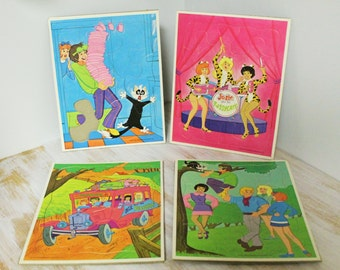 1971 Josie and the Pussy Cats Frame Tray Puzzles