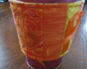 Quilted Multiple Sclerosis Coffee Cozy with Applique