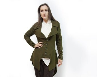 jacket,olive jacket,jersey jacket,long sleeves,original jacket,autumn jacket,jacket women,suit,classic jacket,fall,olive blazer Model J-28