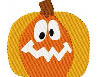 Pumpkin Embroidery Design,  Jack O Lantern Machine Embroidery Design // Halloween Embroidery Design// Fall Embroidery // Joyful Stitches