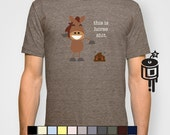 Mens Tshirts MATURE This is Horse Patootie  American Apparel Artwork by Lucy Dynamite