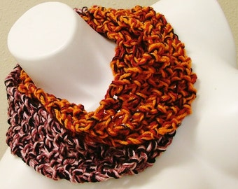 SALE  Fall Colors Circle Scarf