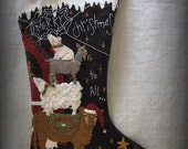 Merry Christmas to All Christmas Stocking KIT by cheswickcompany