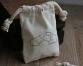 muslin favor bags HiPpO PaiR x10, muslin wedding favor bags, gift bags for goodies, party favor bags, reception favor