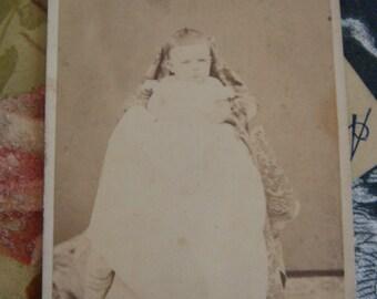 Hidden Mother Photo Antique Photo Baby  Victorian Cabinet Photo