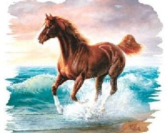 Surf Dancer Brown Horse Top Womans T Shirt 02342HL2