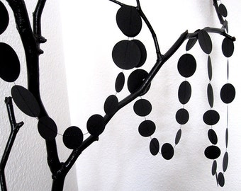 Dots // paper garland made of BLACK paper
