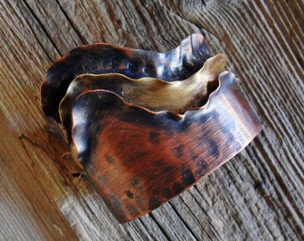 Mixed Metals Brass Copper Cuff Bracelet, Mens Cuff Copper Cuff Bracelet, Womens Copper Cuff Bracelet, Brass Cuff