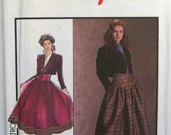 Misses' Bolero Jacket and Skirt, Style 1616 Sewing Pattern UNCUT Size 8