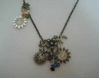 Wire Wrapped Gear Necklace, steampunk jewelry victorian jewelry edwardian jewelry gothic jewelry goth fantasy cosplay neo victorian necklace